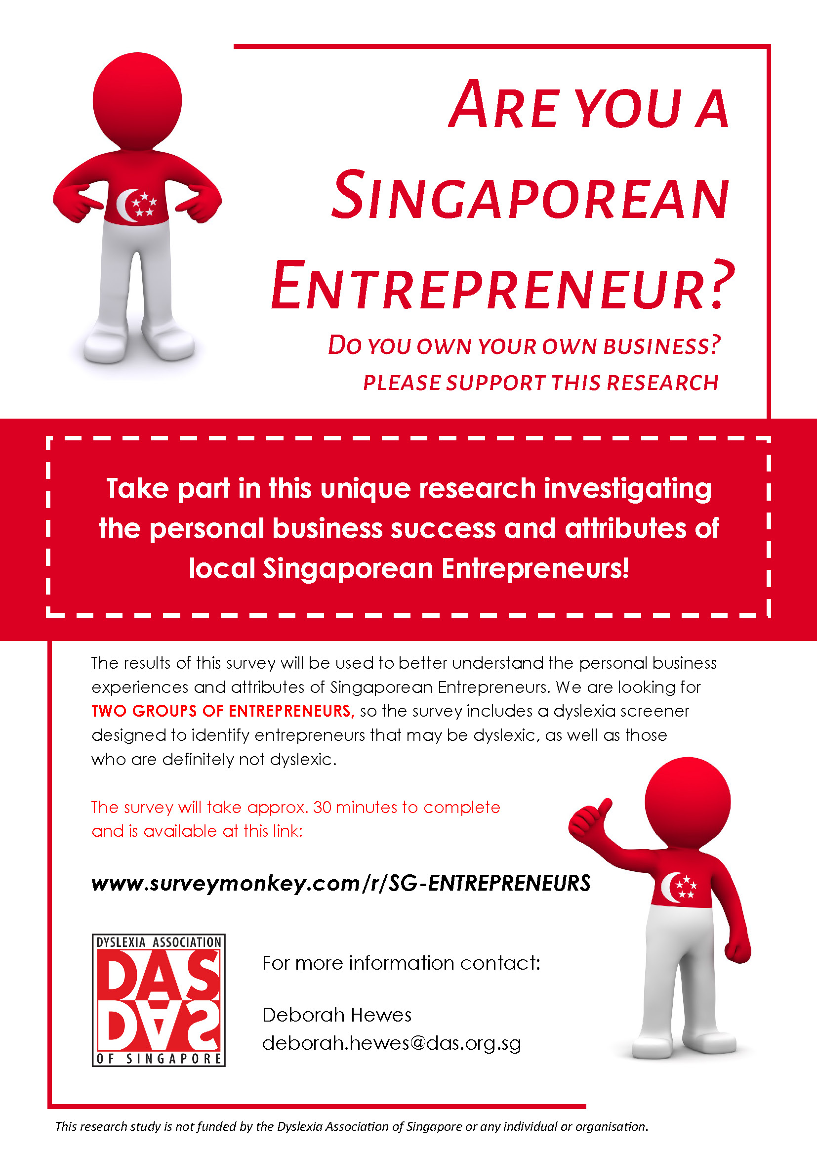 Singapore Entrepreneur Research Flyer