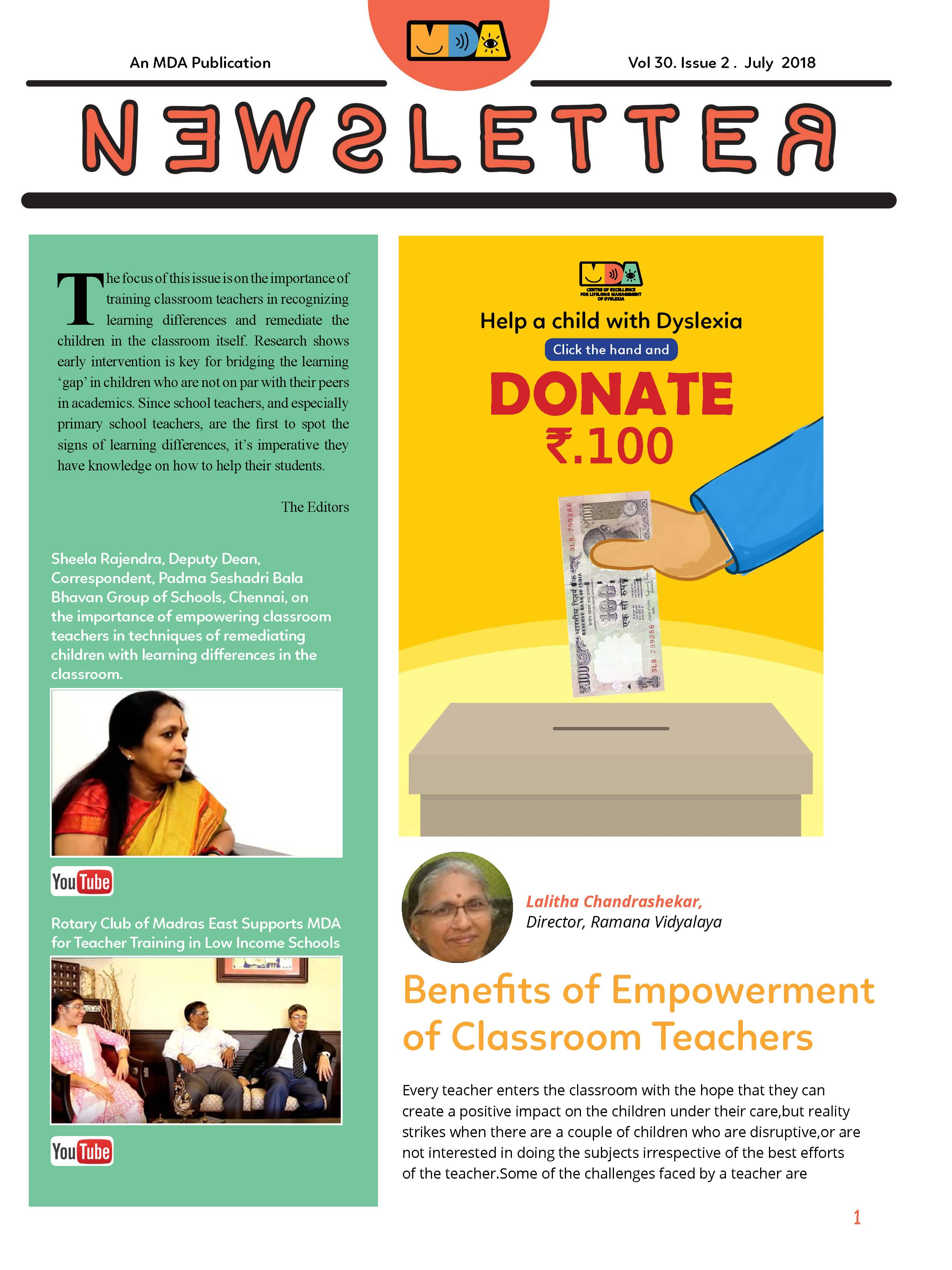MDA News Letter July 2018 CoverPage min