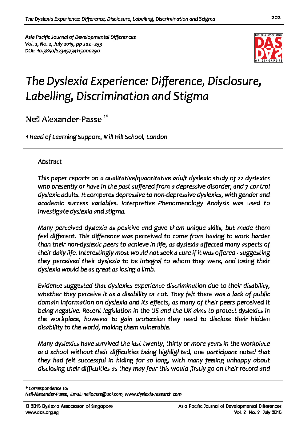 7 The Dyslexia Experience Difference Disclosure Labelling